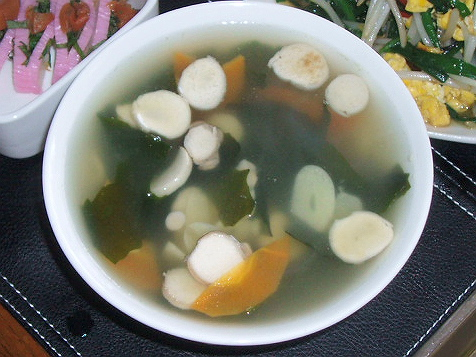 20090411エリンギとわかめのスープ