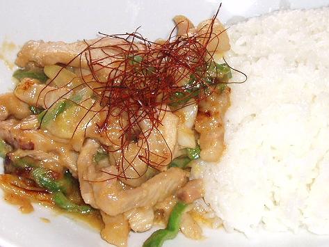 20090509豚の味噌漬け丼