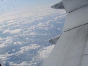飛行機からの眺めその1
