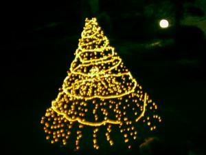 トーヤ温泉ホテルのクリスマスツリー