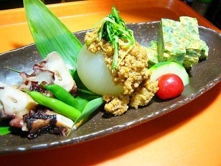 おばんざい三種新玉肉タコ玉子焼き (2)の1