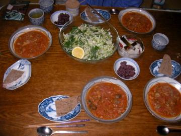 カレー晩ご飯1