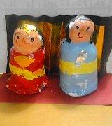 まーくん作紙粘土の雛人形