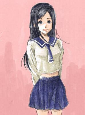 落書きで描いた女の子。