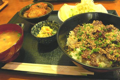 ステーキ丼定食