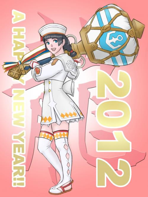 タンジア2012年賀イラスト4
