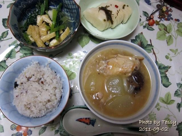 09/02 夕食 参鶏湯風
