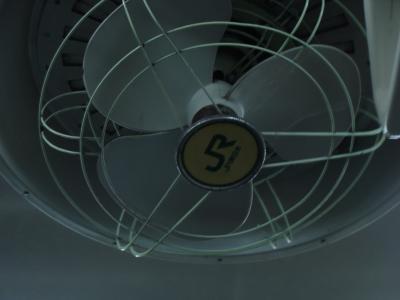 JRのロゴが入った扇風機