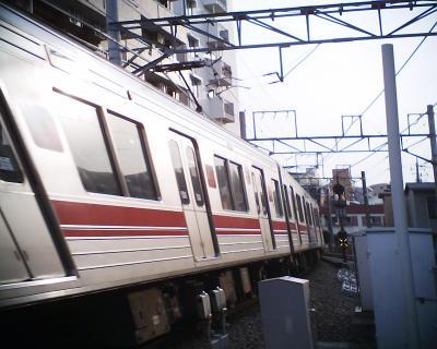 九品仏駅でグニャリ:R2