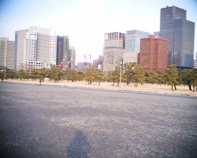 クレーンのすき間の東京スカイツリー:R2