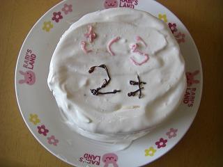 さくら2歳ケーキ