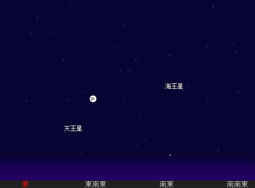 2011 9 12 中秋の名月星図2