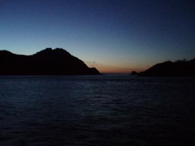 高島から望む