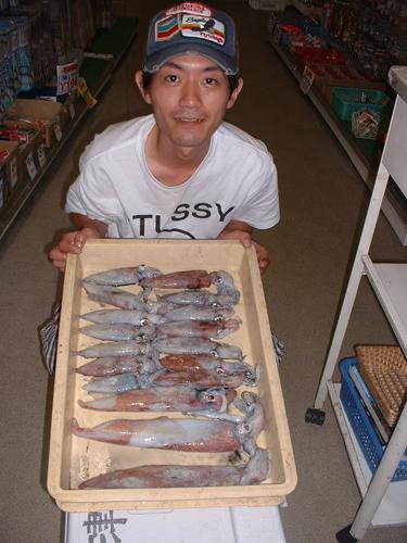 8月13日イカ釣り