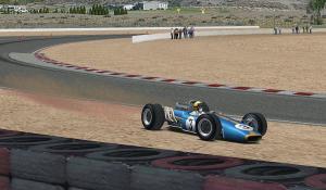 Lap17、1コーナーでコースアウト