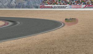 Lap63、1コーナーでコースアウト