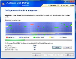 デフラグ AusLogics Disk Defrag