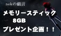 メモリスティック8GBプレゼント企画~