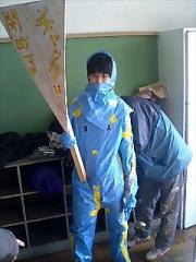 ブルーシートスーツ
