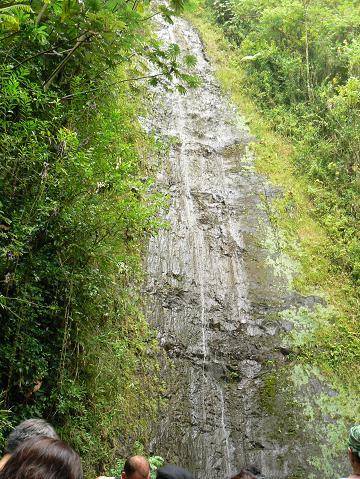 '08ハワイ 0627マノア滝ツアー:一段目の滝