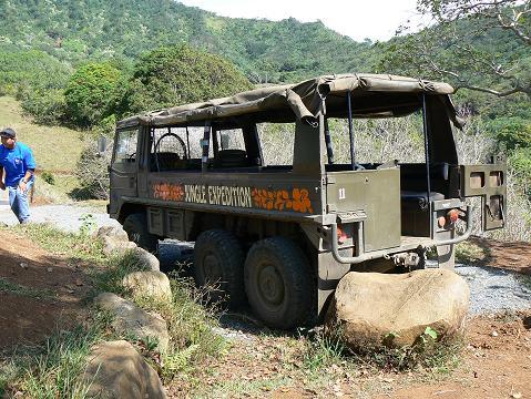 '08ハワイ 0628クアロア牧場:ジャングルジープツアー