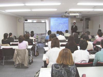 S 20090517 佐々木先生と会場全景2