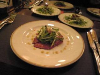 鴨肉のカルパッチョ仕立
