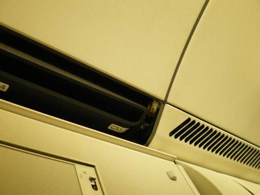 飛行機の天井