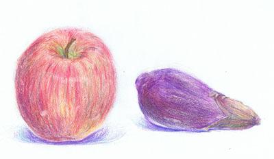 リンゴとなす
