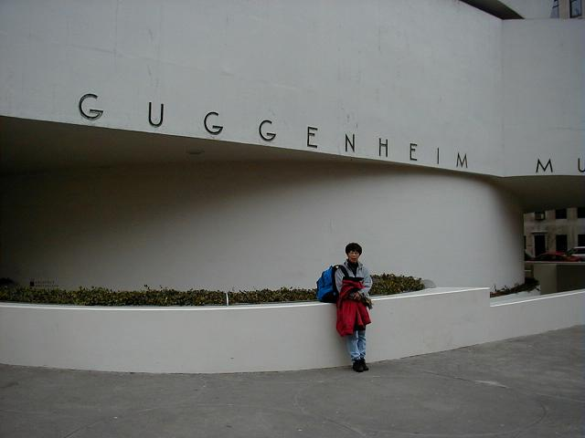 in front of museum