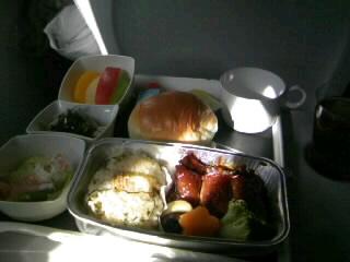 初めの機内食