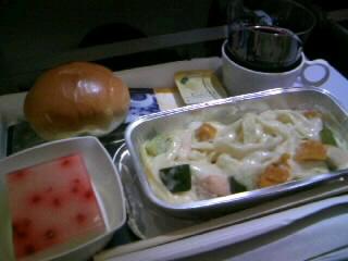 3回目の機内食