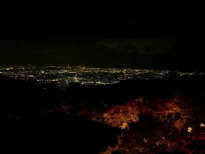 相模湾の夜景を一望