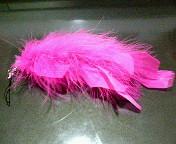 羽のストラップ