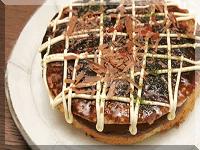 お好み焼き(チョコレートケーキ)