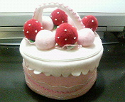 ケーキのポーチ
