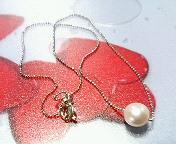 真珠1粒ネックレス