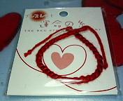 赤い糸 ブレスレット