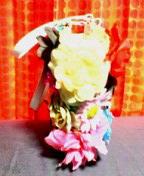 花カゴバッグ サイド