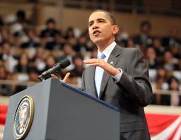政策演説するオバマ米大統領