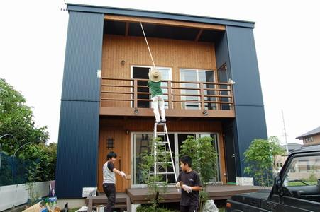 20080607ベランダ&デッキ塗装7