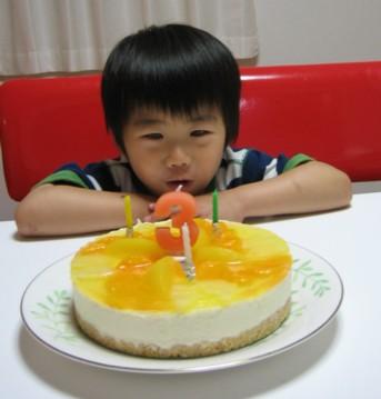 お誕生日ケーキ完成!