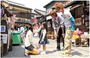 小江戸川越菓子屋横丁でのロケ写真