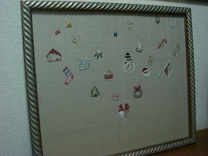 クリスマス刺繍