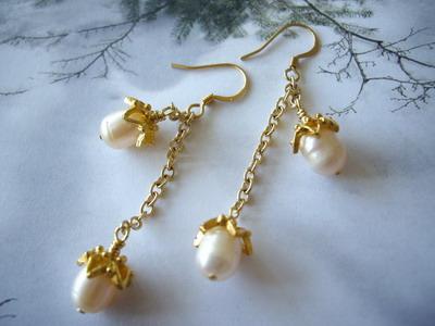 acorn dance earrings