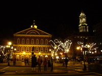 night in Boston