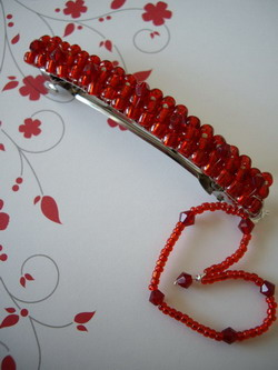 lovely valentine barrette