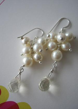 Lemon drop steriling silver earrings