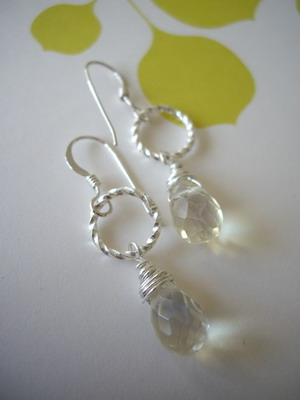 Link lemon drop sterling silver earrings