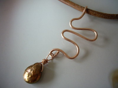 copper pendant